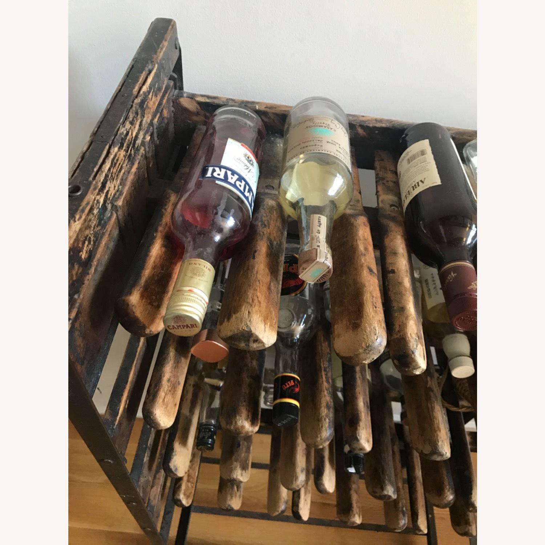 Vintage Antique Wine Rack Bar Cart - image-11