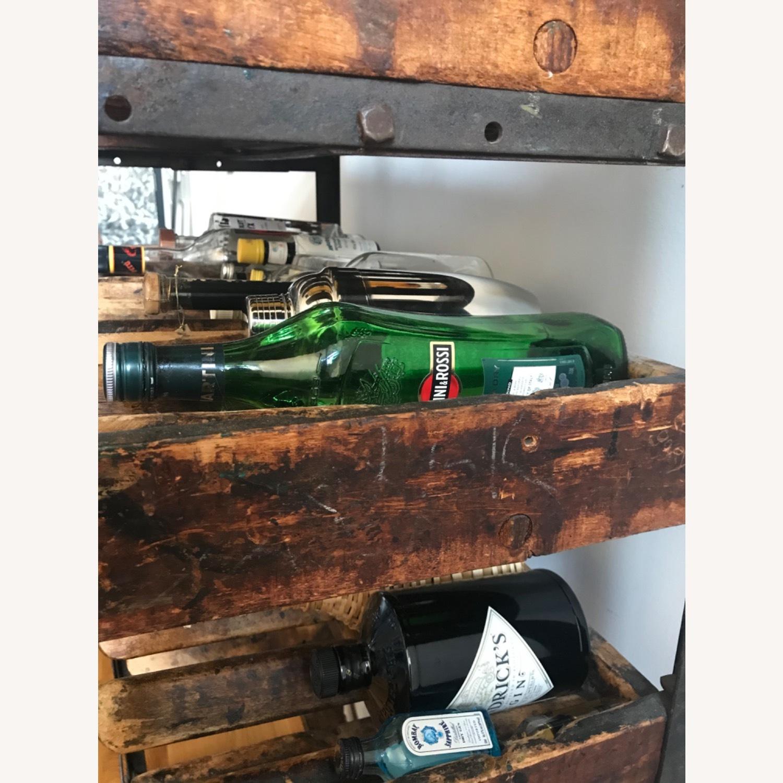 Vintage Antique Wine Rack Bar Cart - image-4