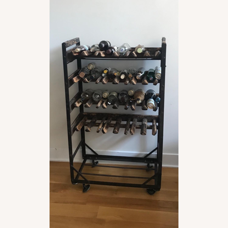 Vintage Antique Wine Rack Bar Cart - image-14