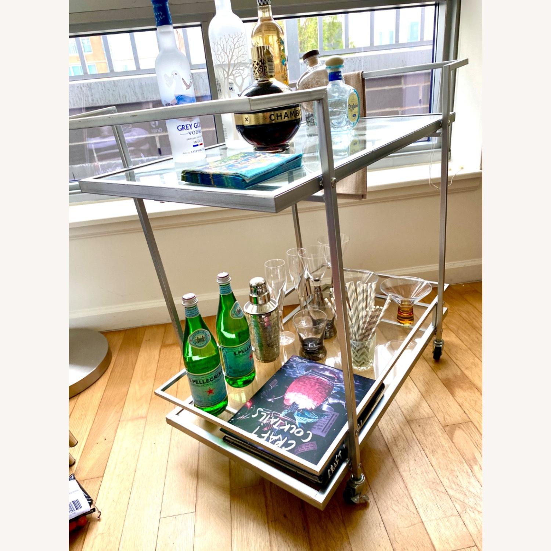 All Modern Silver Bar Cart Aptdeco