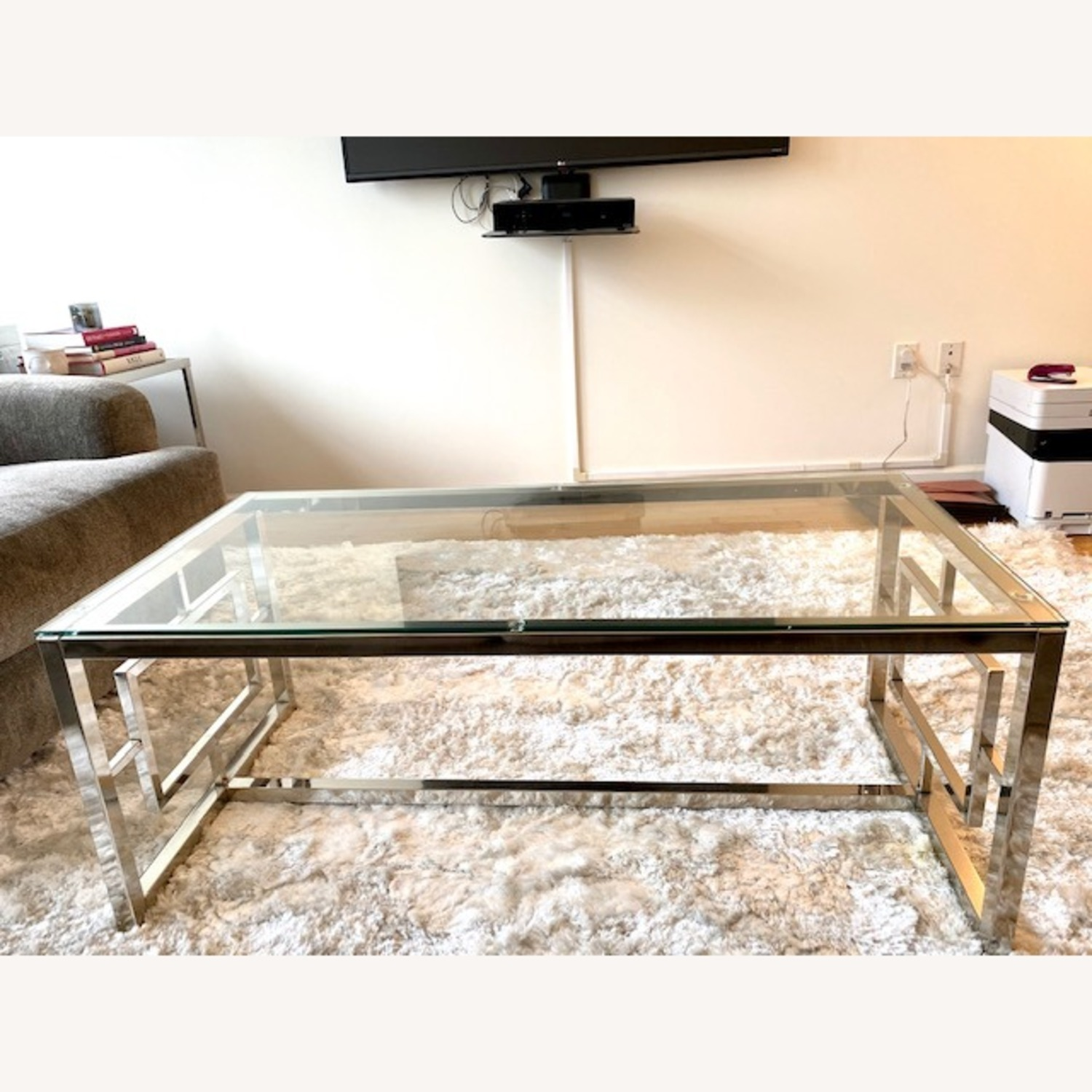 All Modern Glass / Silver Coffee Table - image-4