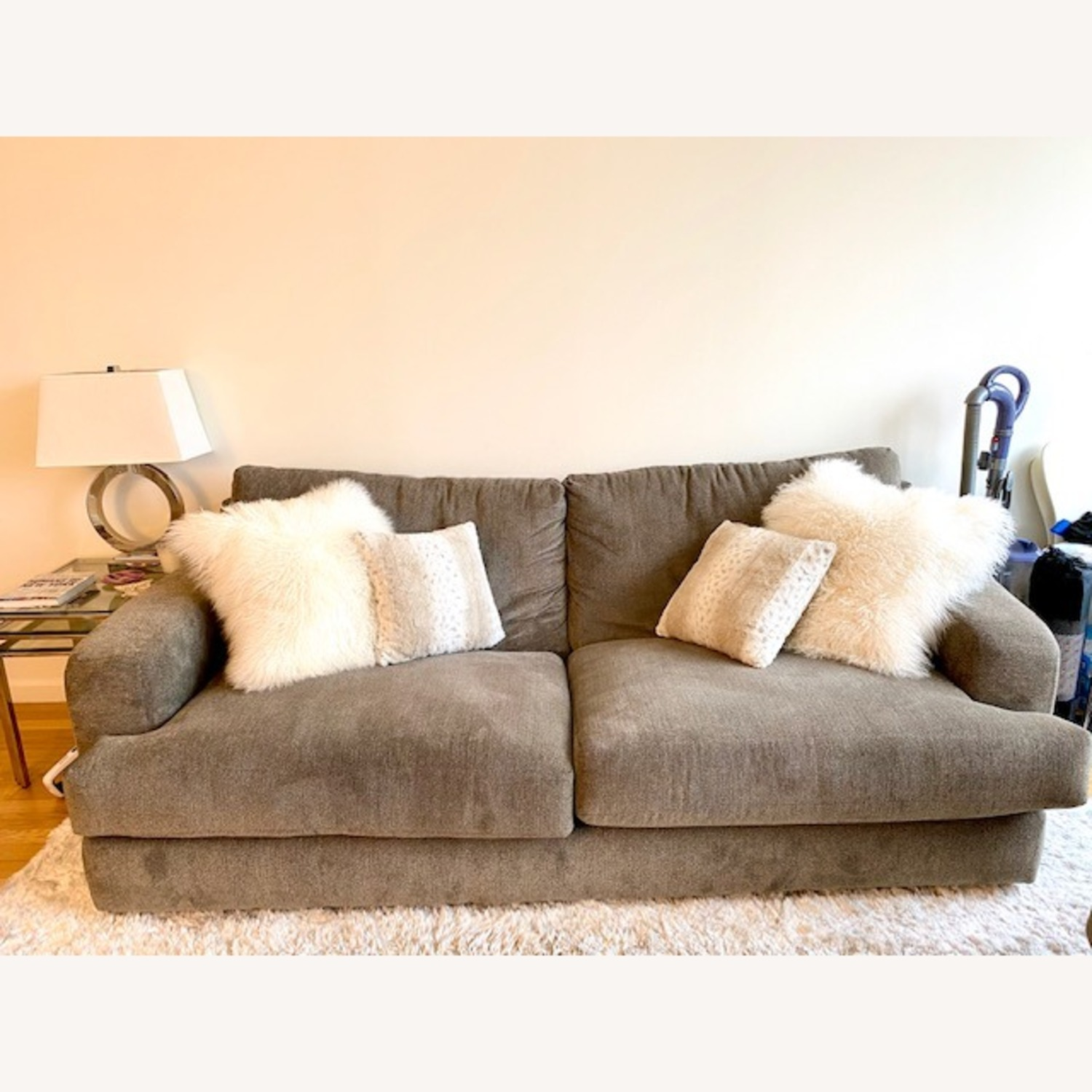Raymour & Flanigan Grey 2 Seater Sofa - image-1