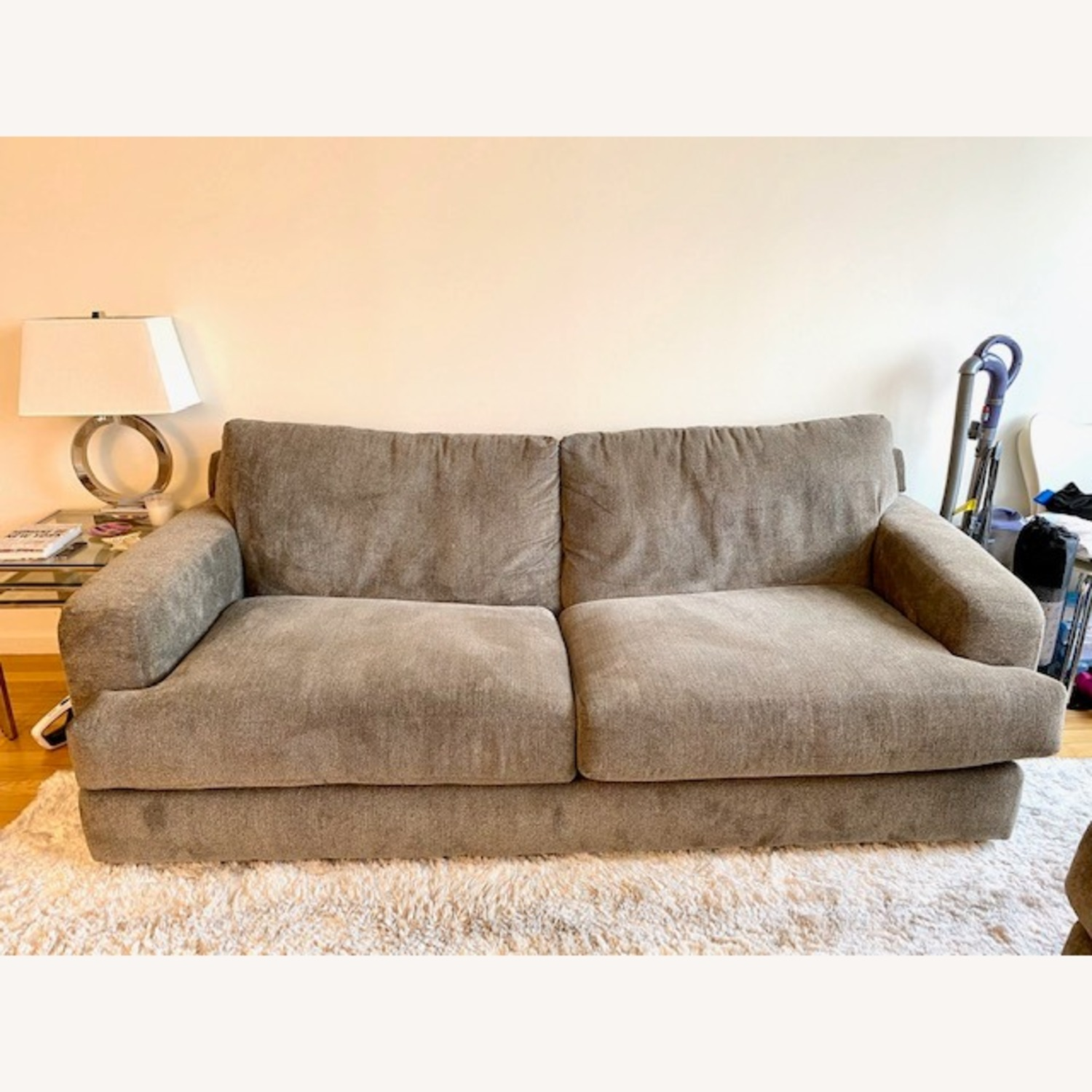 Raymour & Flanigan Grey 2 Seater Sofa - image-2