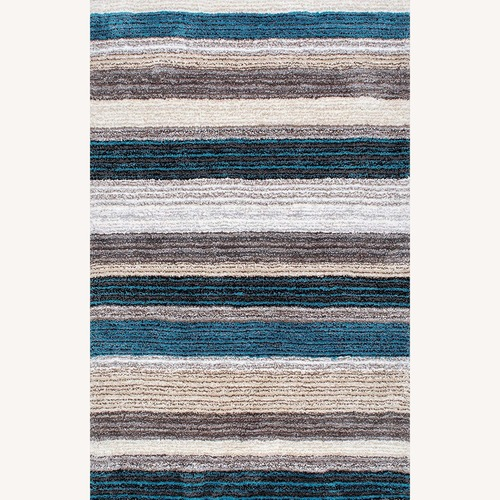 Used nuLOOM Blue Rug for sale on AptDeco