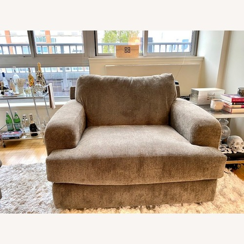 Used Raymour & Flanigan Grey Chaise Lounge Seat for sale on AptDeco