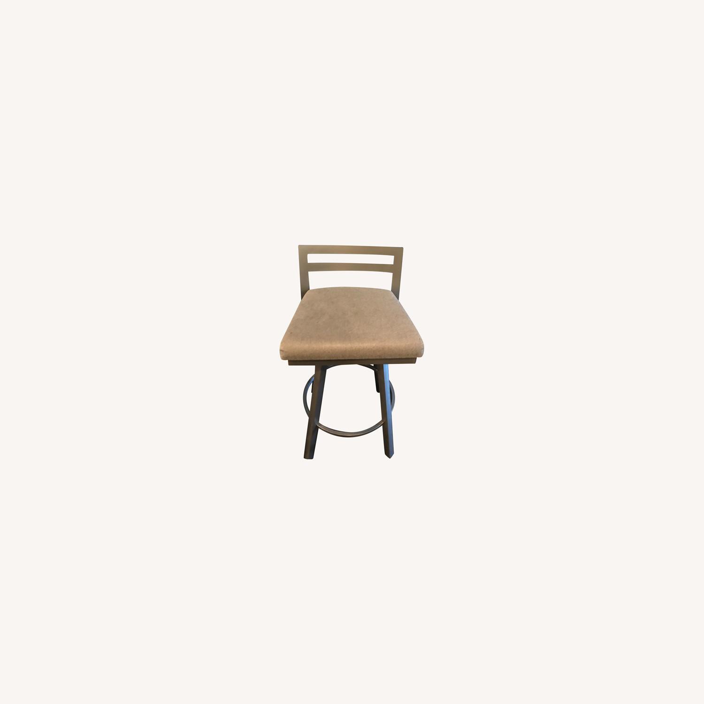 Urban Style Swivel Bar Stool with Cushion - image-0