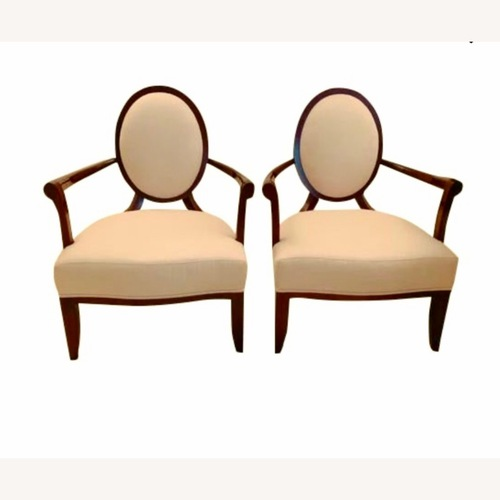 Used Baker Furniture Barry Oval X-Back Armchair for sale on AptDeco