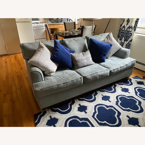 Used Microfibre Blue Couch for sale on AptDeco