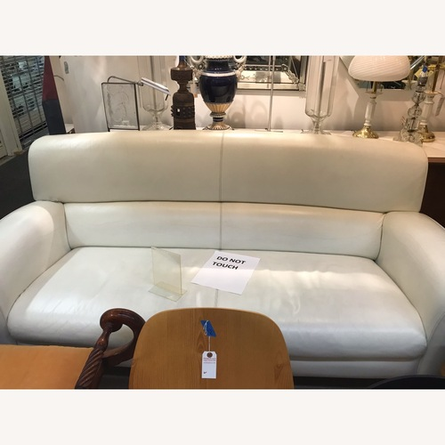 Used Poltrona Frau White Leather Sofa for sale on AptDeco