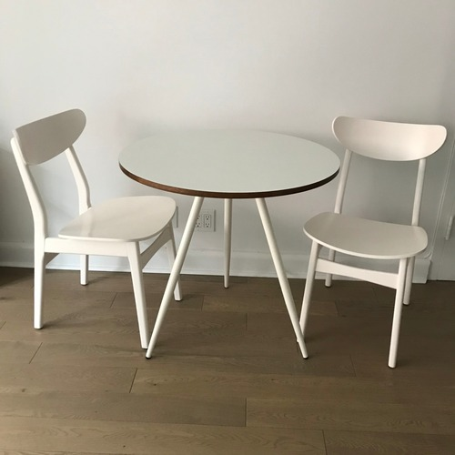 Used West Elm Dining Table and Chairs for sale on AptDeco