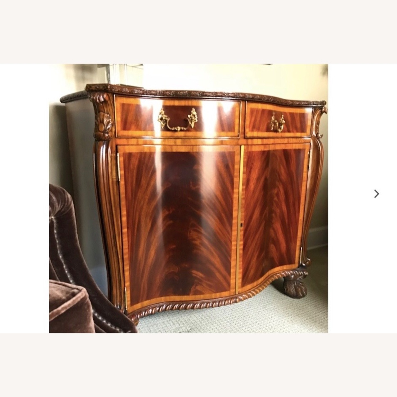 Maitland Smith Flame Mahogany Serpentine Cabinets - image-3
