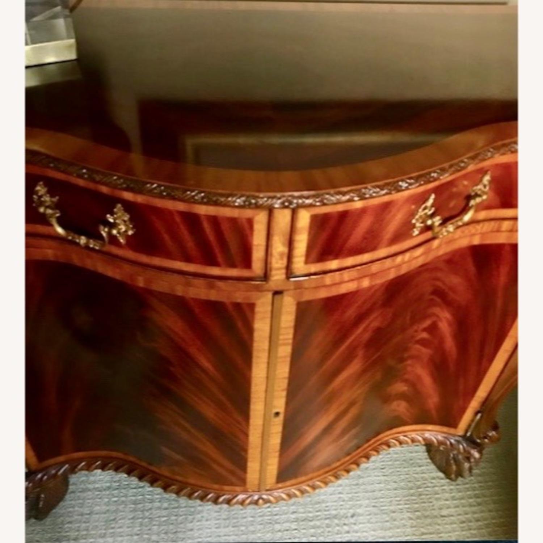 Maitland Smith Flame Mahogany Serpentine Cabinets - image-5
