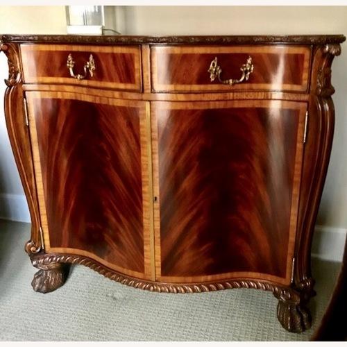 Used Maitland Smith Flame Mahogany Serpentine Cabinets for sale on AptDeco