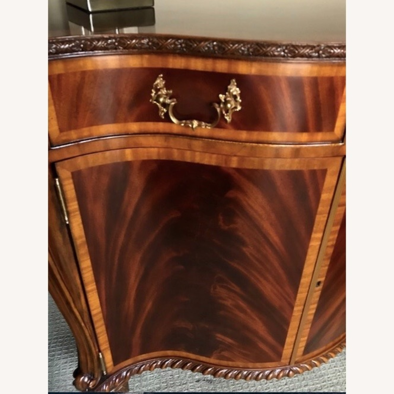 Maitland Smith Flame Mahogany Serpentine Cabinets - image-4