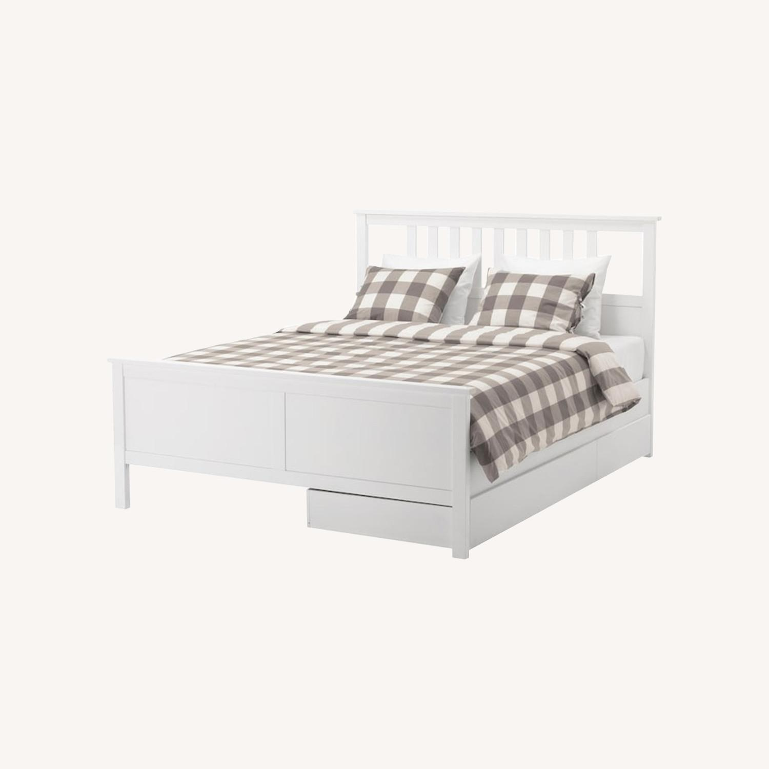 IKEA Hemnes Queen Bed - image-0