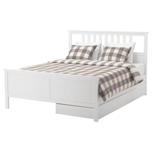 Used IKEA Hemnes Queen Bed for sale on AptDeco