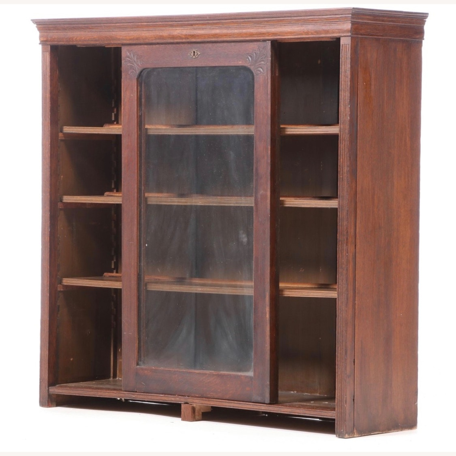 Oak Bookcase Cabinet, Early 20th Century - image-4