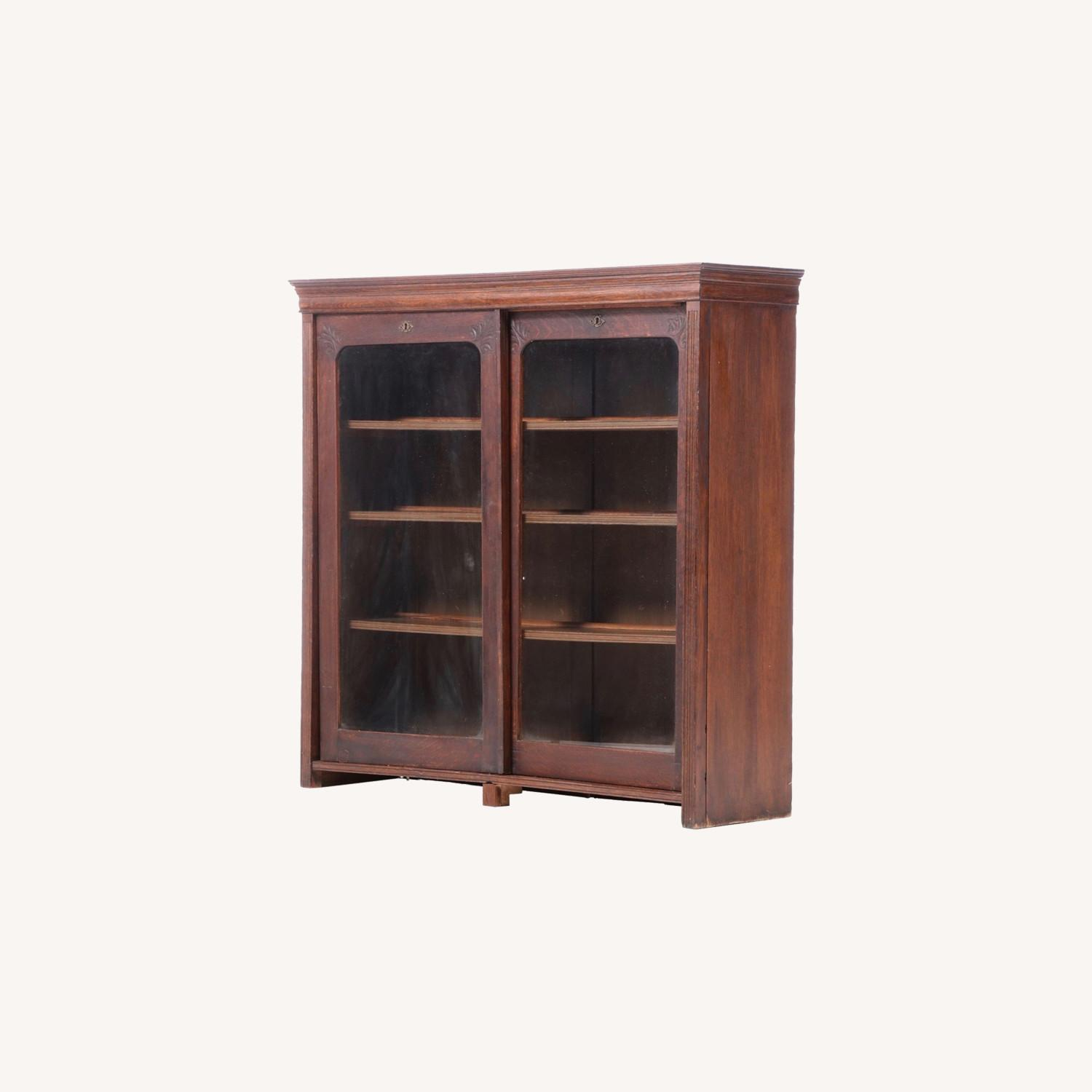 Oak Bookcase Cabinet, Early 20th Century - image-0