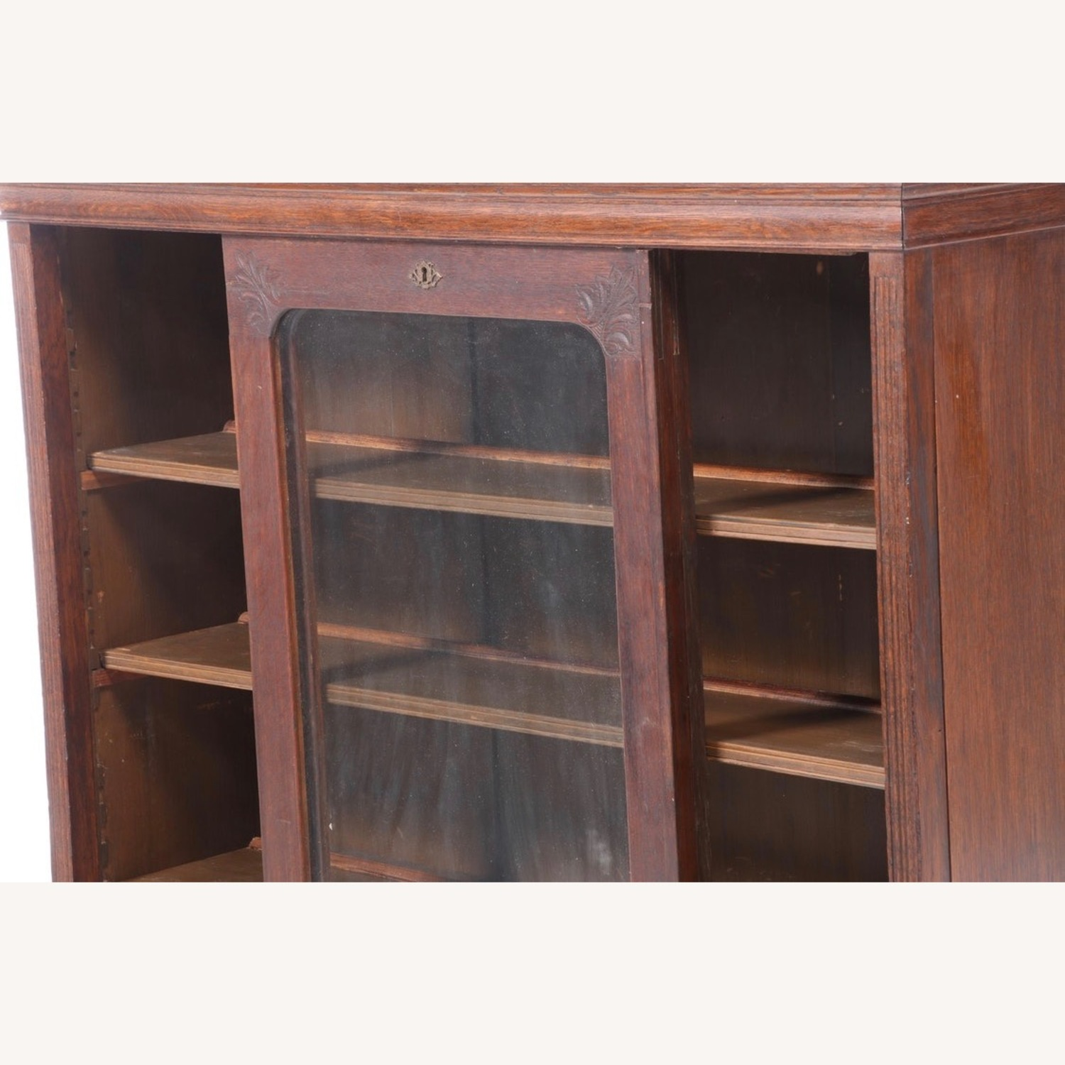 Oak Bookcase Cabinet, Early 20th Century - image-7