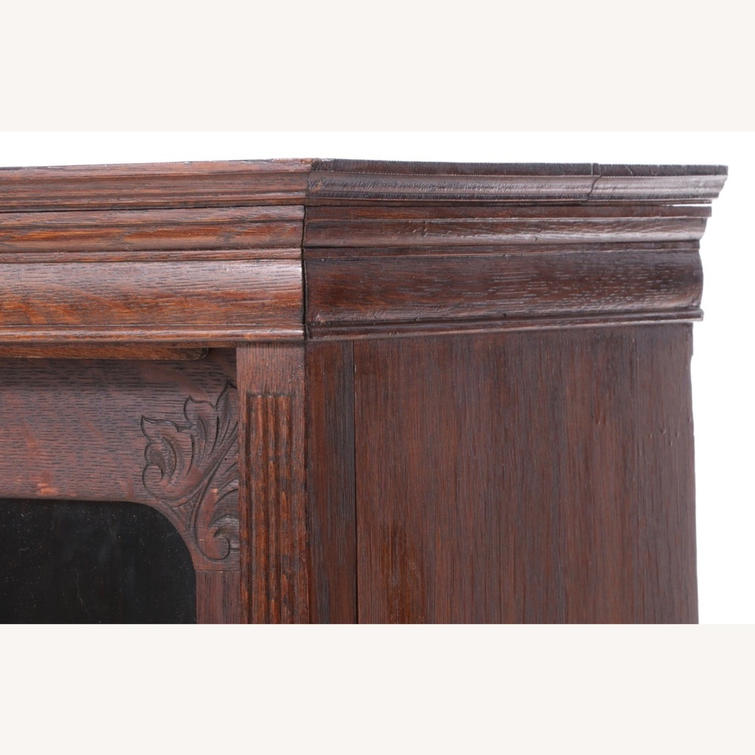 Oak Bookcase Cabinet, Early 20th Century - image-9