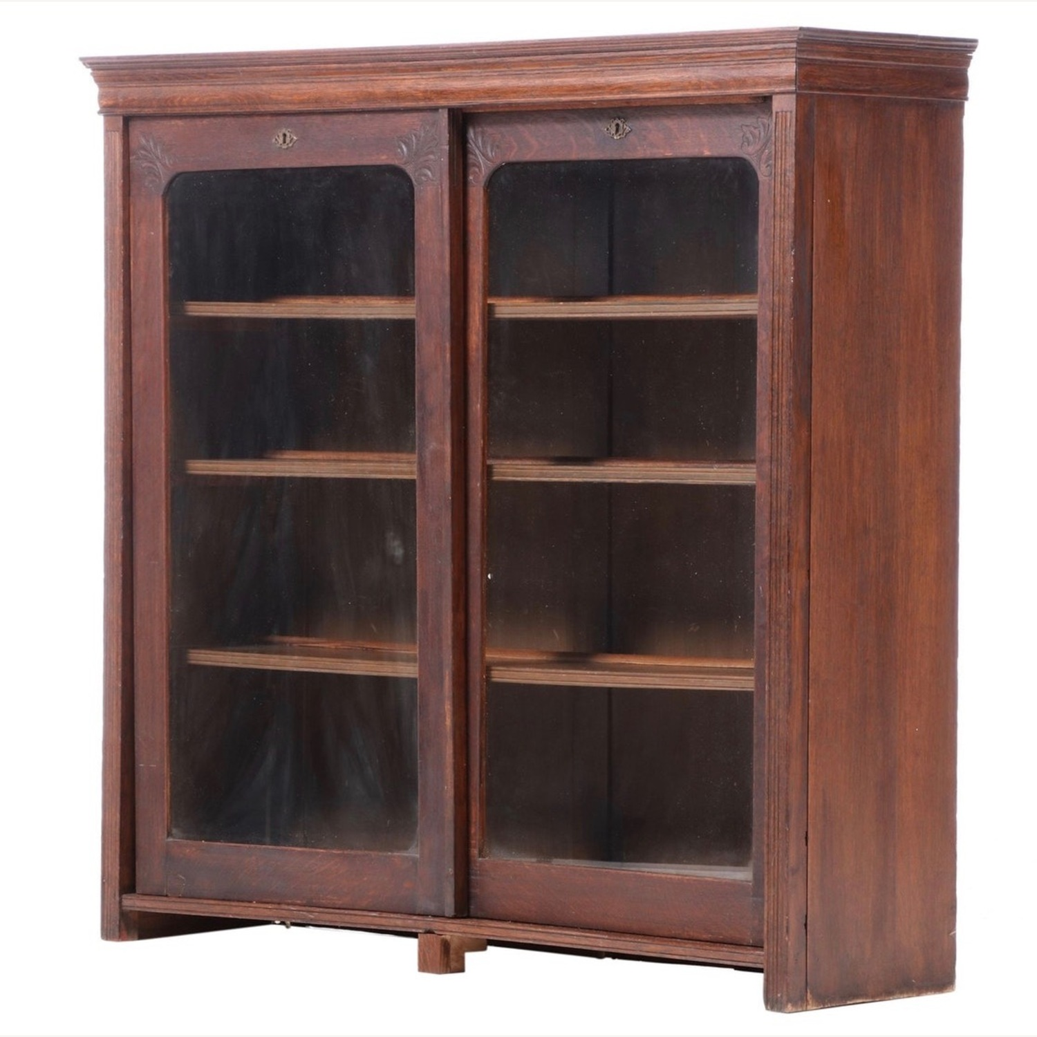 Oak Bookcase Cabinet, Early 20th Century - image-1