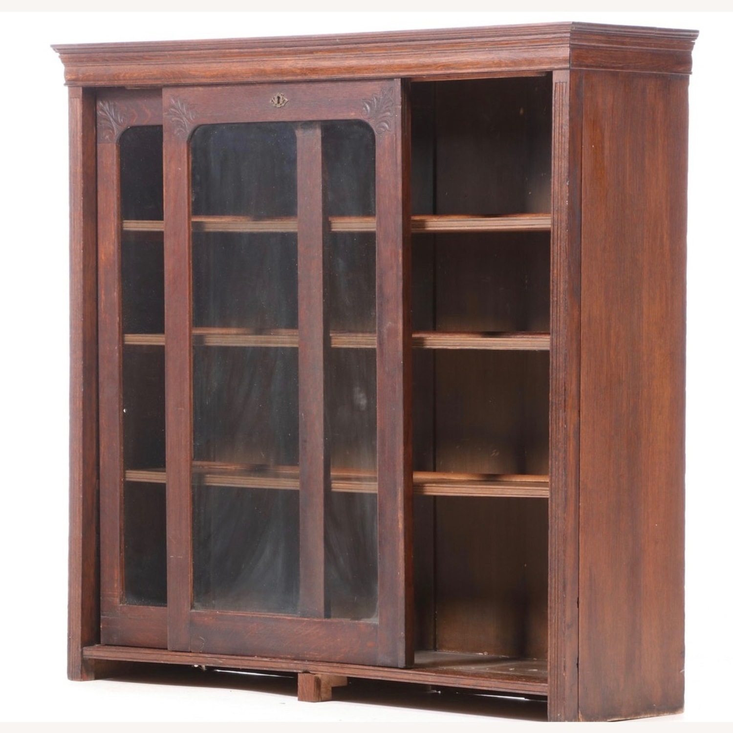 Oak Bookcase Cabinet, Early 20th Century - image-2
