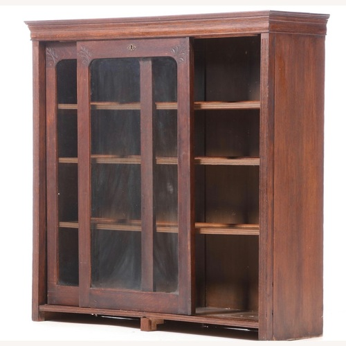 Used Oak Bookcase Cabinet, Early 20th Century for sale on AptDeco
