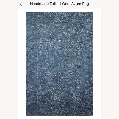 Used Wayfair Birch Lane Handmade Tufted Wool Azure Rug for sale on AptDeco