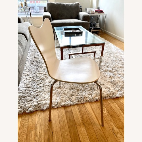 Used West Elm White Dining Table Chairs (Set of 4) for sale on AptDeco