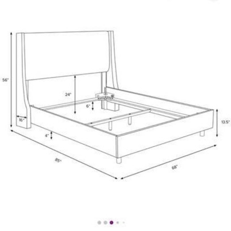 Joss & Main Light Grey Upholstered Queen Sized Bed Frame - image-6