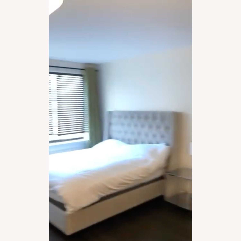 Joss & Main Light Grey Upholstered Queen Sized Bed Frame - image-2