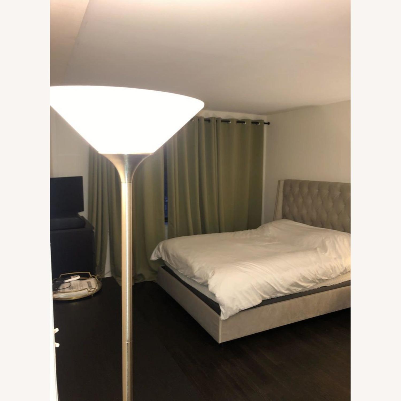 Joss & Main Light Grey Upholstered Queen Sized Bed Frame - image-1