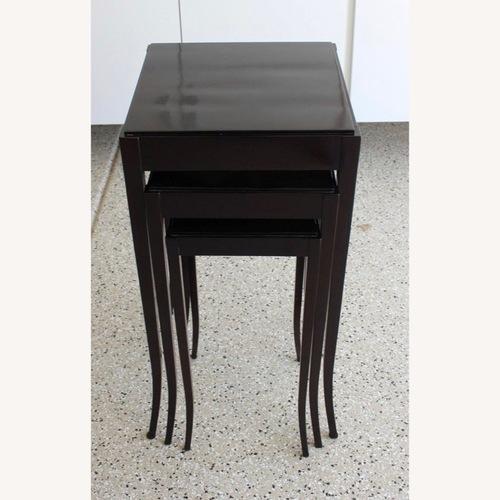 Used Baker Mahogany Nesting Tables- Barbara Barry for sale on AptDeco
