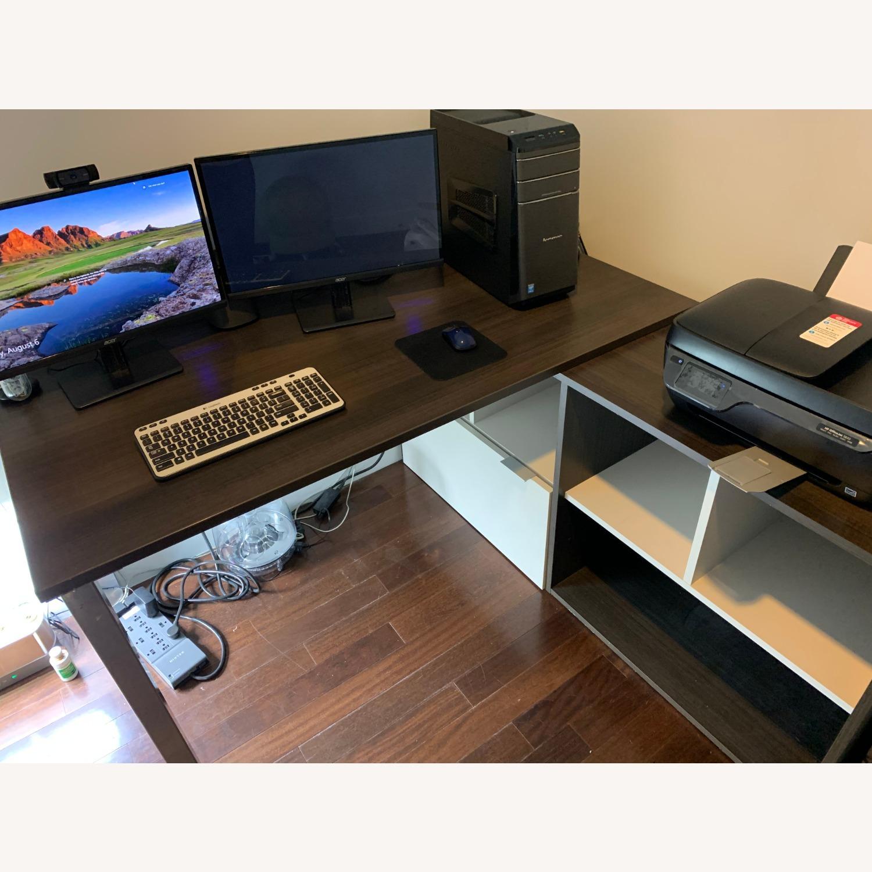 Dark Wood Desk - image-2