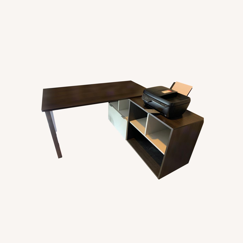 Dark Wood Desk - image-0