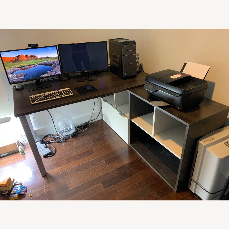 Dark Wood Desk - image-1