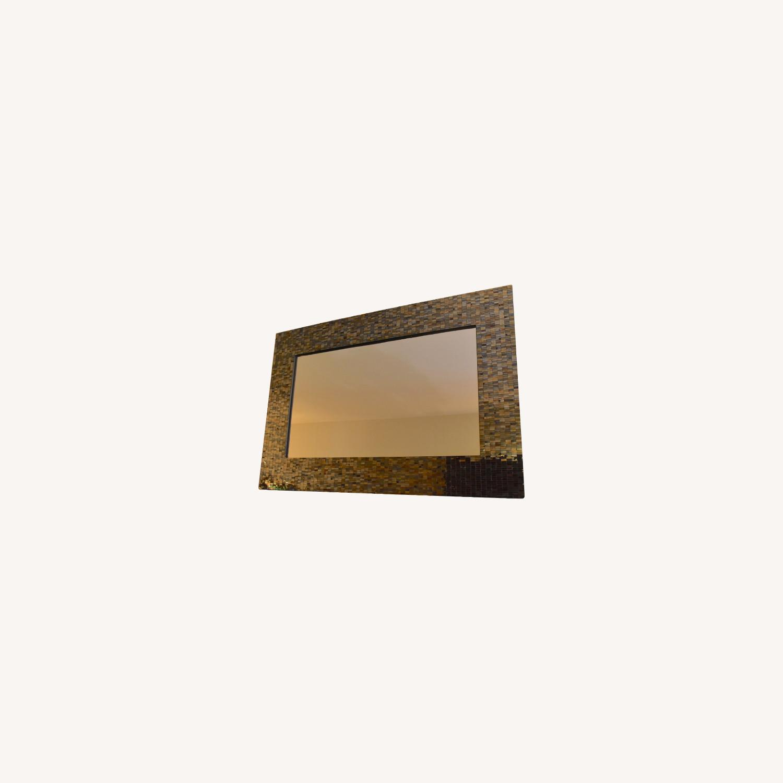 Mosaic Framed Mirror - image-0