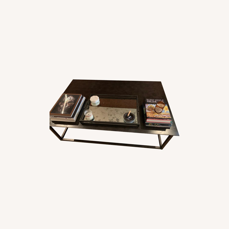 Restoration Hardware Blackend Rust Coffee Table - image-0