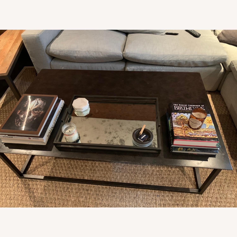 Restoration Hardware Blackend Rust Coffee Table - image-1