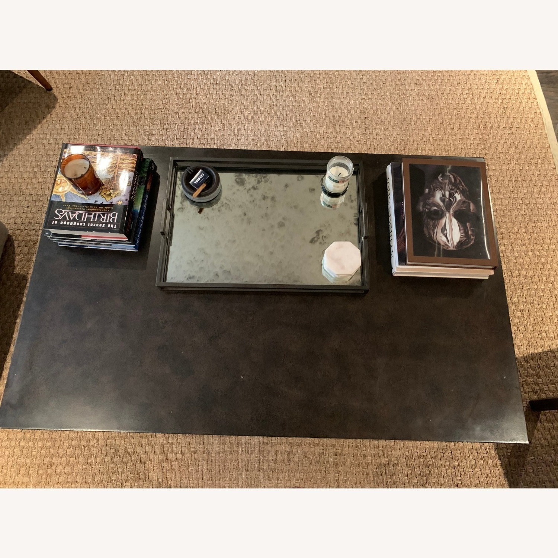 Restoration Hardware Blackend Rust Coffee Table - image-5