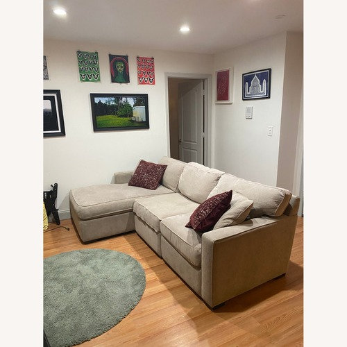 Used Macy's Radley 3-Piece Fabric Chaise Sectional Sofa for sale on AptDeco