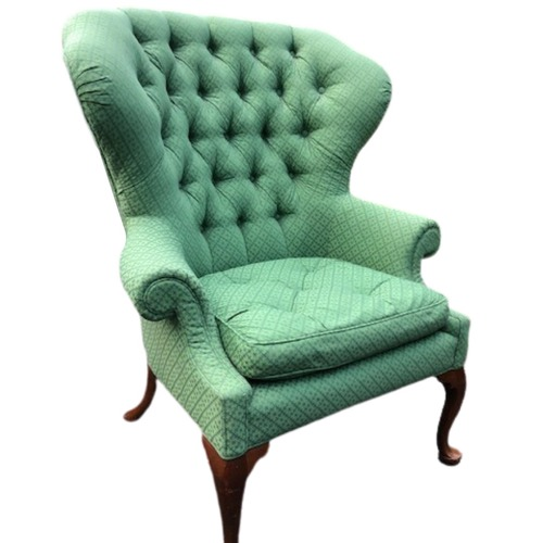 Used Upholstered Green Vintage Armchair for sale on AptDeco