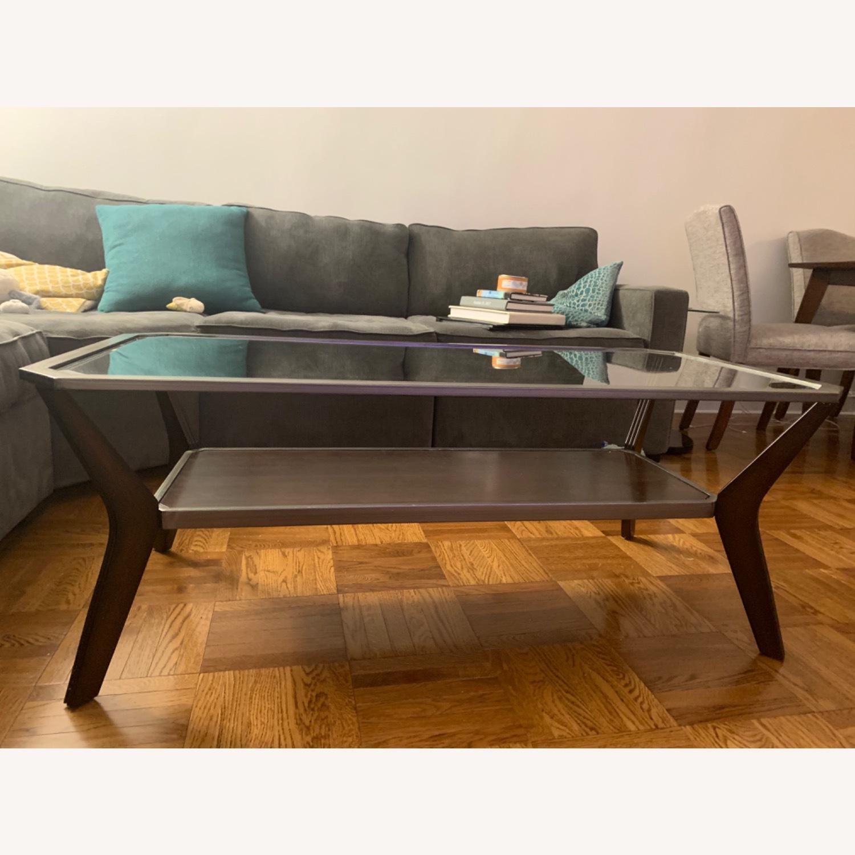 Glass Top Coffee Table - image-1