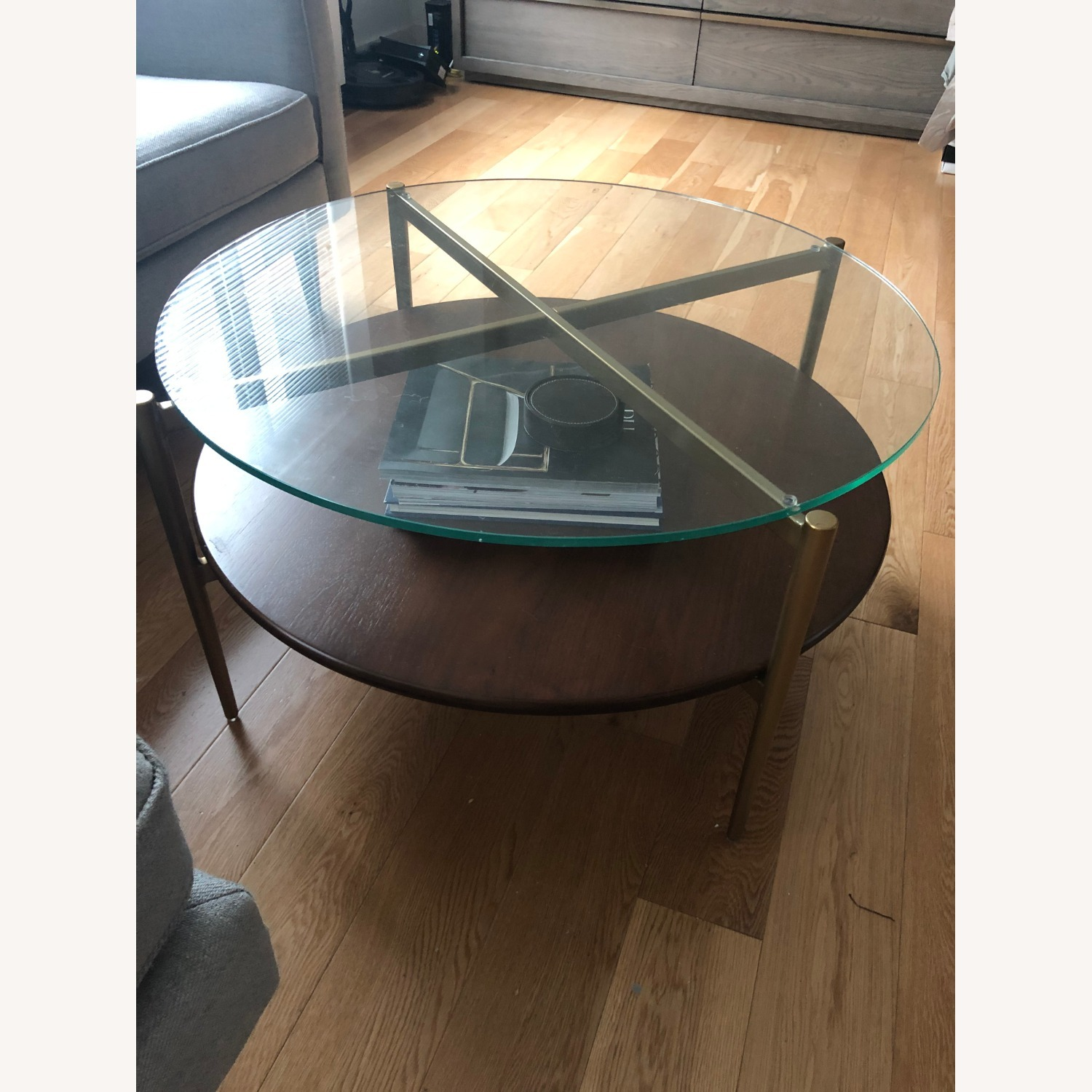 West Elm Mid Century Round Coffee Table - image-5