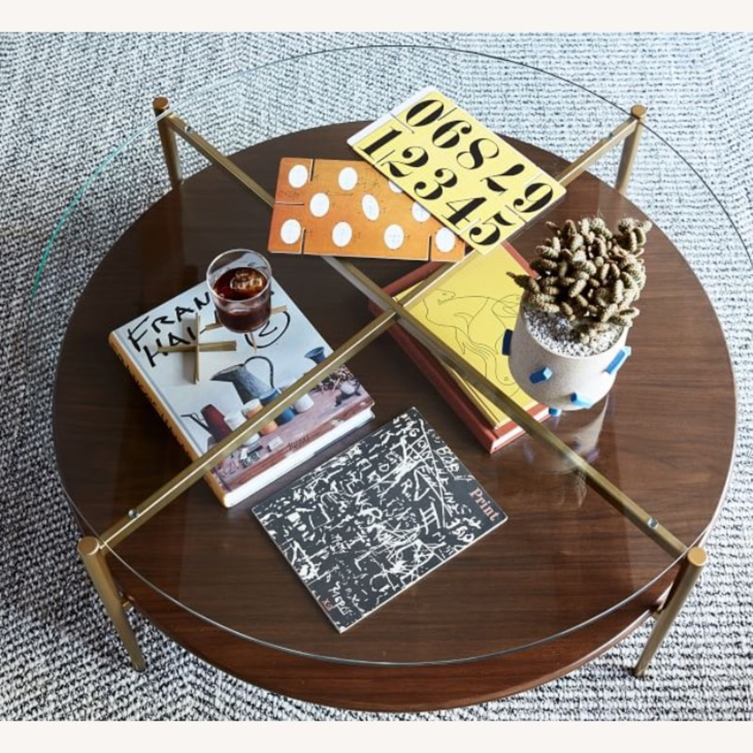 West Elm Mid Century Round Coffee Table - image-3