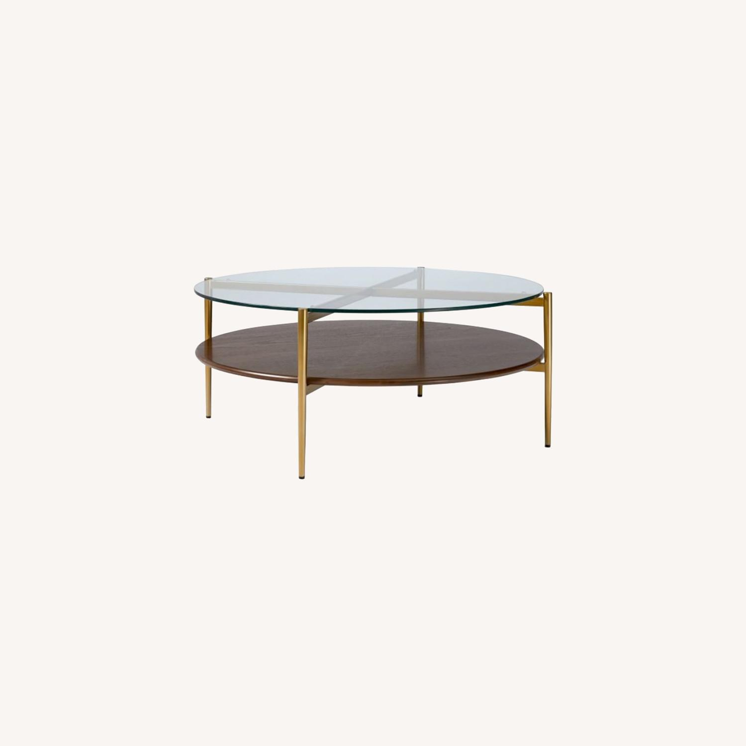 West Elm Mid Century Round Coffee Table - image-0