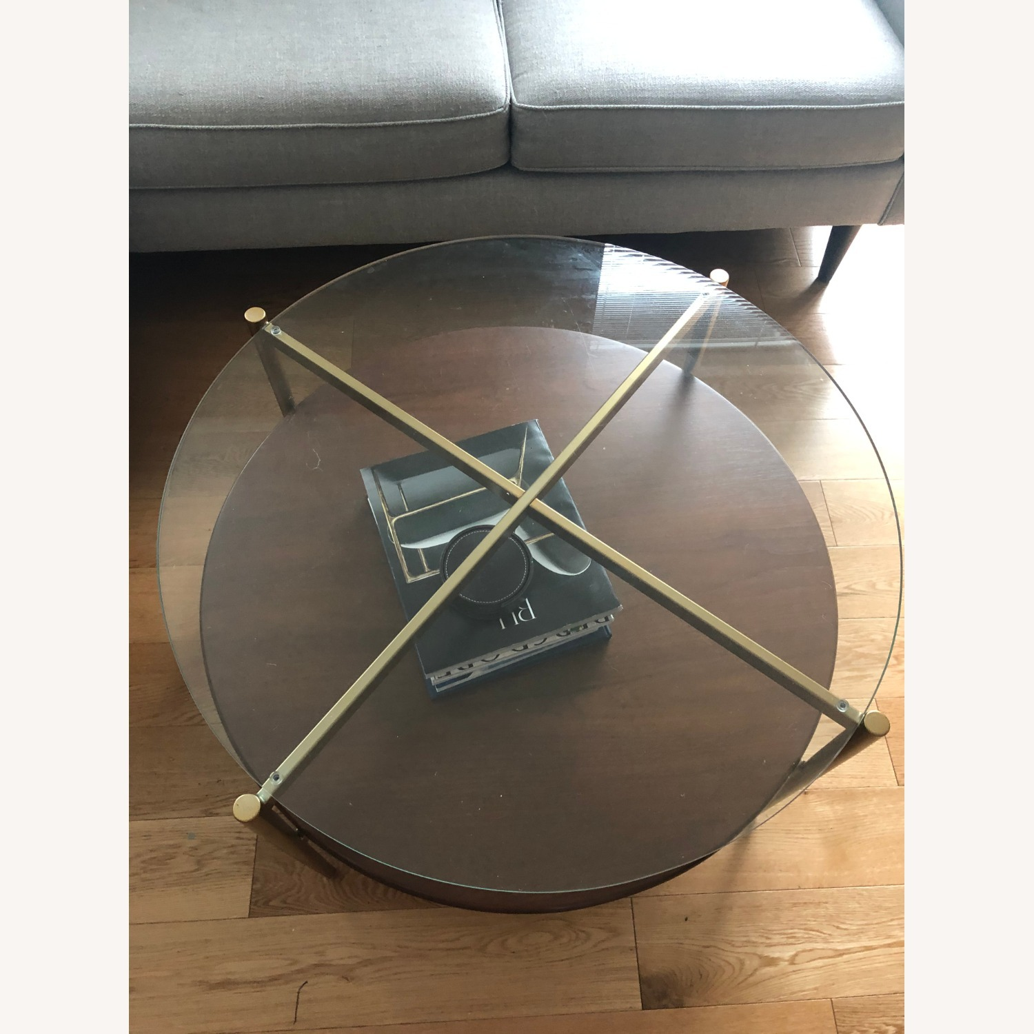West Elm Mid Century Round Coffee Table - image-4