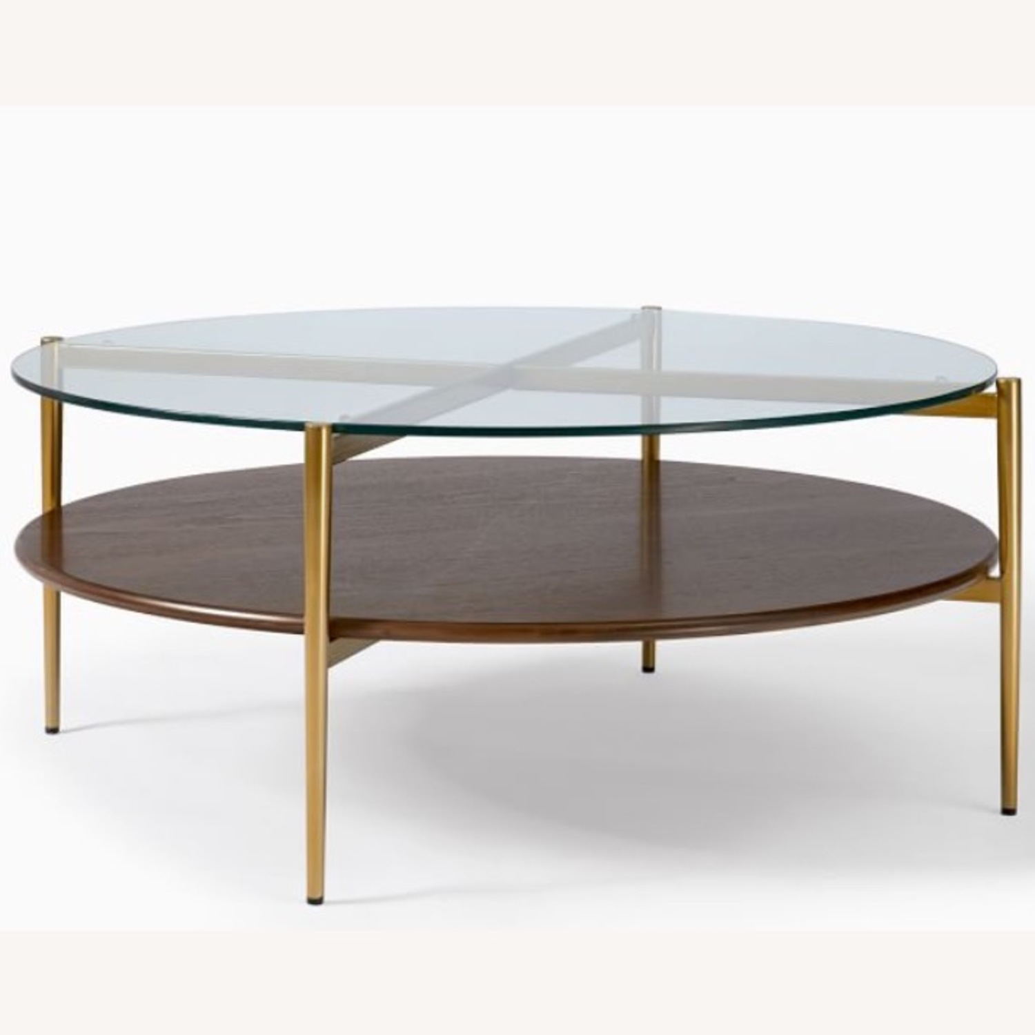 West Elm Mid Century Round Coffee Table - image-1