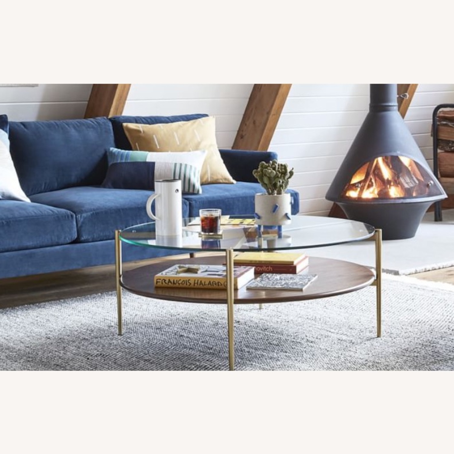 West Elm Mid Century Round Coffee Table - image-2