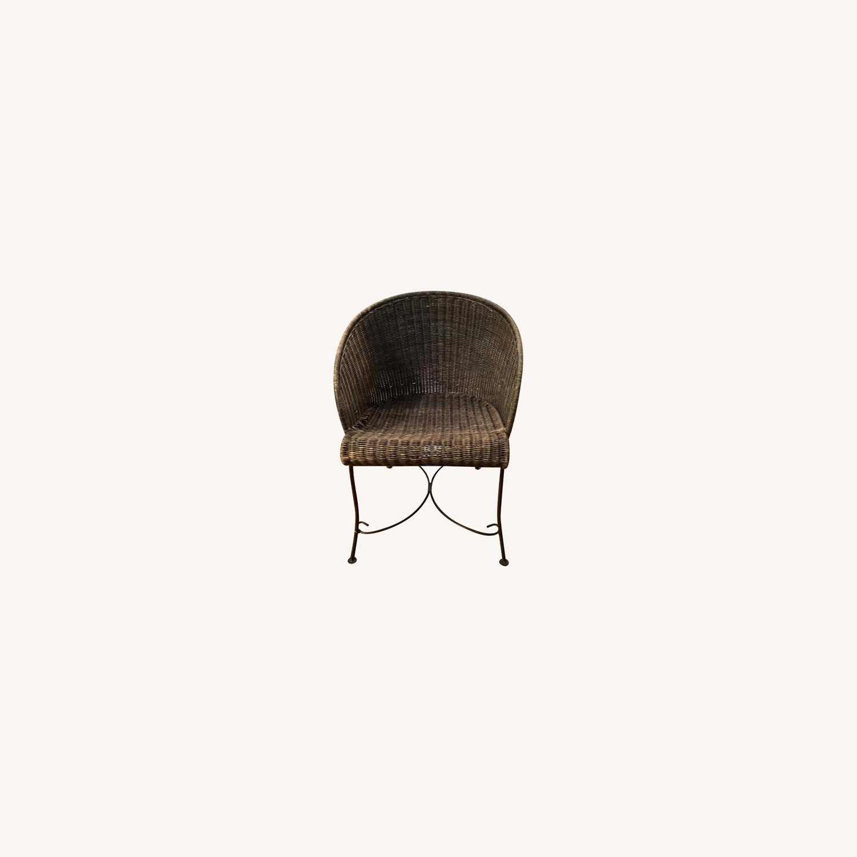Vintage Wicker Armchair - image-0